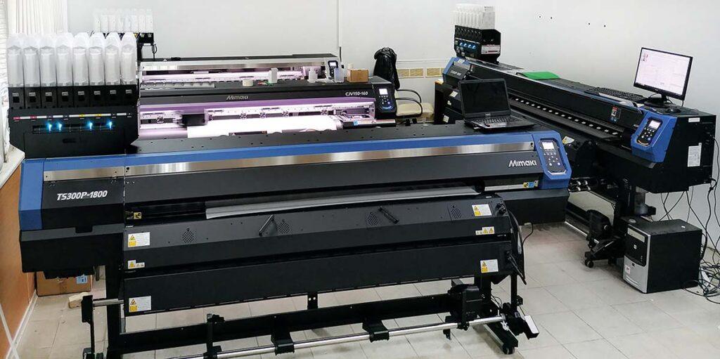 Четыре принтера Mimaki