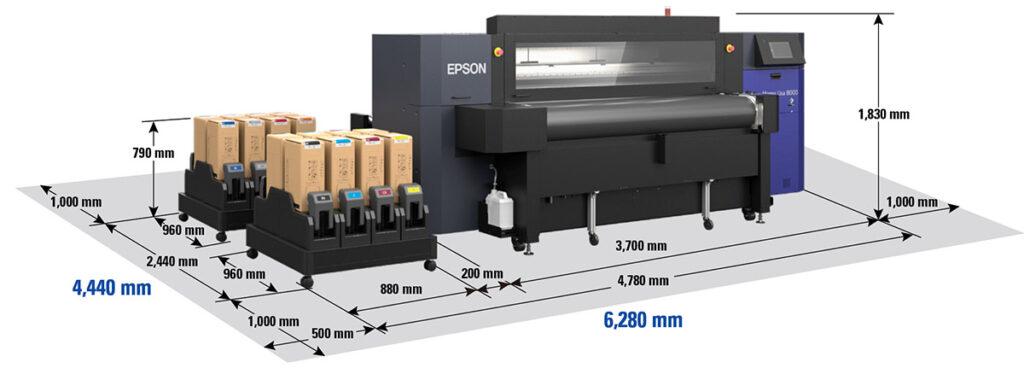 Размерная схема принтера Epson ML-8000