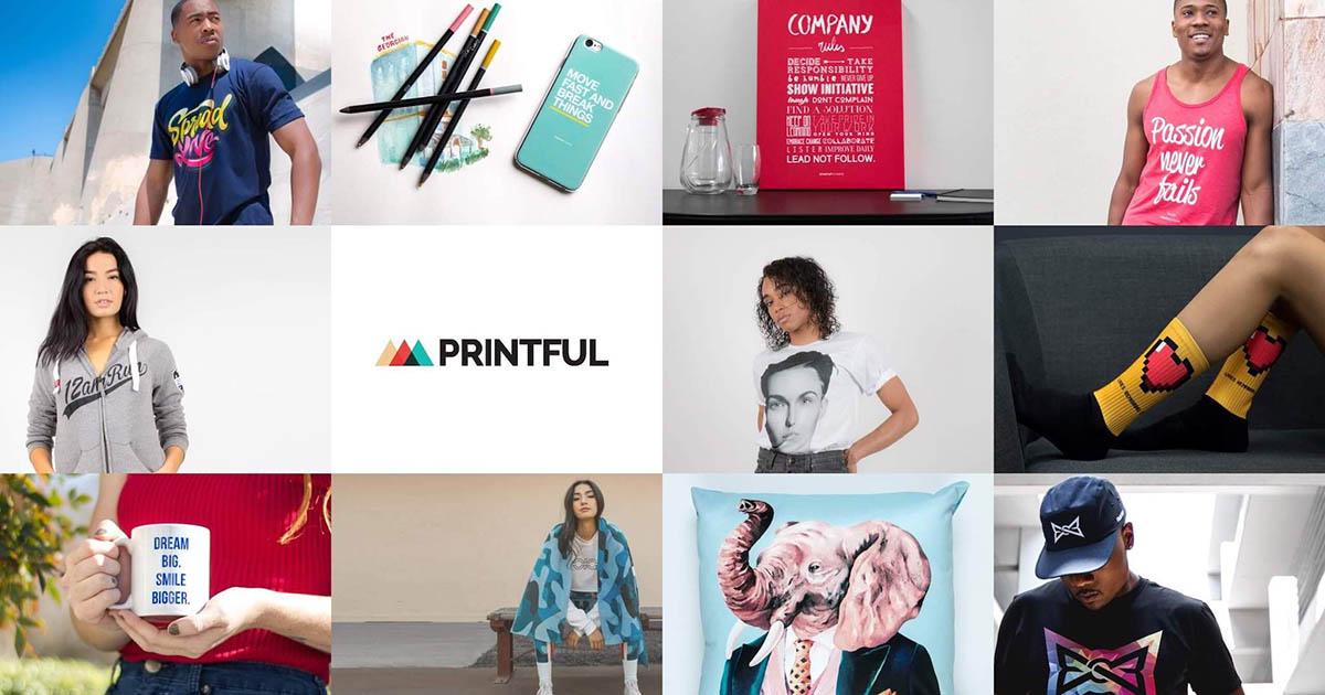 Примеры печати фабрик Printful